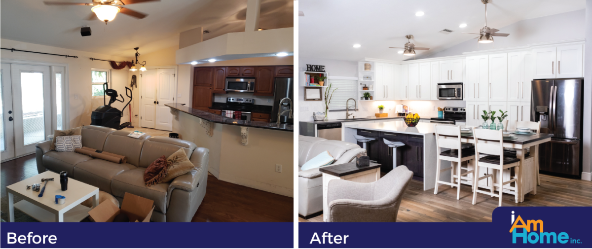 Daisy C. Kitchen Before and After